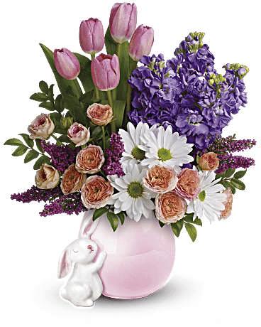 send a hug bunny bouquet
