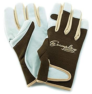Exemplary Gardens Leather Gardening Gloves