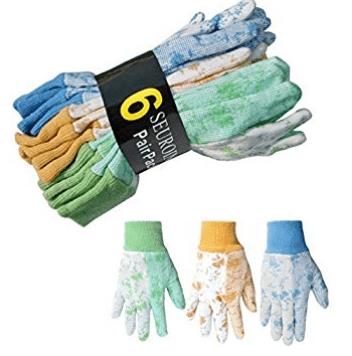 Seuroint 6 Pairs Pack Women Soft Garden Gloves