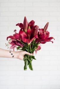 lilies flower bouquet